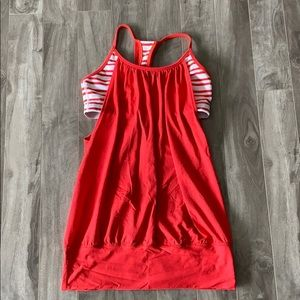 Lululemon Red Tank Top